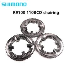 Shimano dura ace r9100 11 스피드 블랙 자전거 자전거 110bcd 50 34 t/52 36 t/53 39 t r9100 크랭크 셋 도로 액세서리