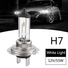 H7 Halogen Car Headlight Bulbs Super Bright Bulb 55W 12V 6000K White Light Fog Lights for Accessories