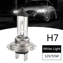 цена на H7 Halogen Car Headlight Bulbs Super Bright Halogen Bulb H7 55W 12V 6000K White Light Fog Lights Car Bulb for Car Accessories