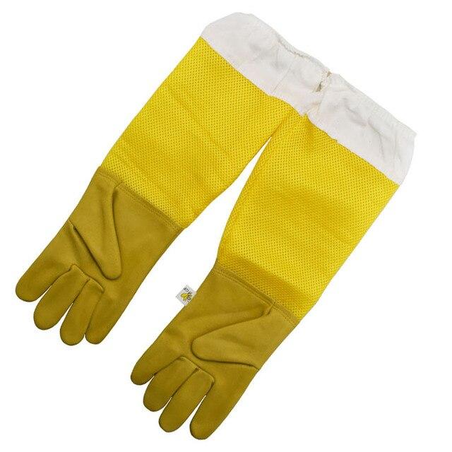 1set Beekeeping Gloves Goatskin Bee Keeping With Vented Beekeeper Long Sleeves  1