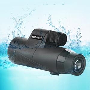 Image 3 - Borwolf 12X50 Monocular Telescope HD Light Night Vision Bak4 Prism  with Phone Clip Tripod Waterproof Binoculars  for hunting