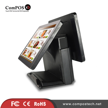 pos computer 1618D 15inch touch screen resistive pos system for retail