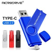 Type c OTG metal usb flash drive pendrive 4GB 8GB 16GB 32GB 64GB 128GB key usb stick pen drive 4 colors  2 in 1 OTG stick drive