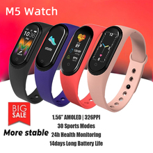M5 Fitness Smart Watch New Running Heart Rate Blood Pressure Sleep Monitor Alarm Clock Reminder Interactive Music Noctilucent