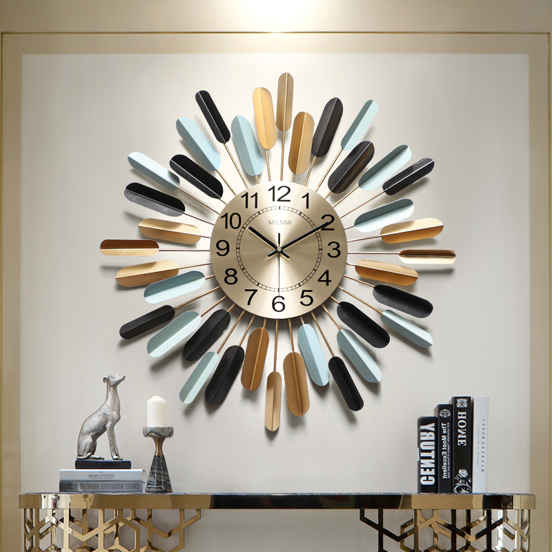 Special Price For American Style Living Room Wall Clock Brands And Get Free Shipping A38