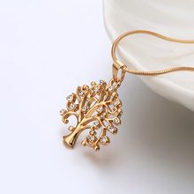 Tree Of Life Pendant Choker Necklace Women Jewelry Fashion 2018 Crystal Rose Gold Statement Necklaces & Pendants Christmas Gifts(Hong Kong,China)