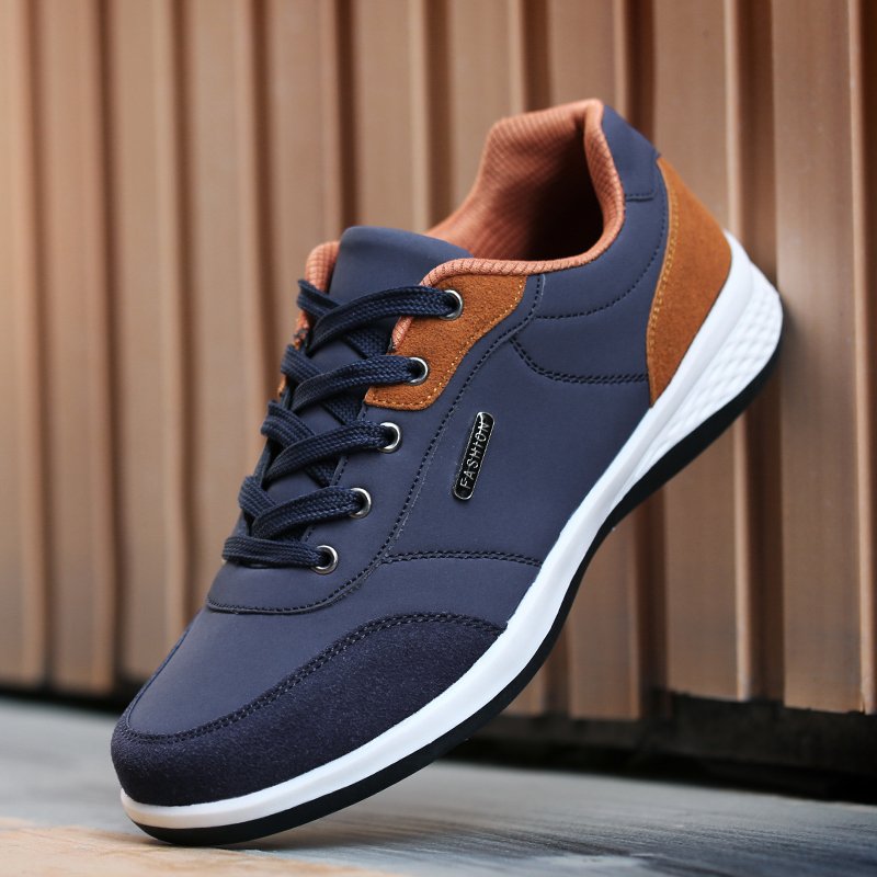 D415 Leather Men Shoes England Trend Casual Shoes Men Sneakers Italian Breathable Leisure Male Footwear Chaussure Homme