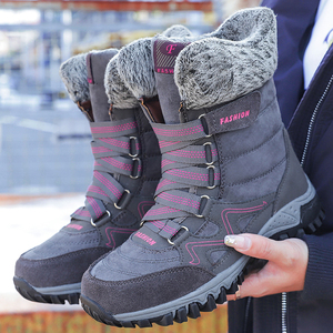 Image 5 - ฤดูหนาวรองเท้าผู้หญิงรองเท้าบู๊ตหิมะรองเท้าสตรีรองเท้าผ้าฝ้ายหญิงข้อเท้าสูงรองเท้าสวมใส่ลื่นBota feminina
