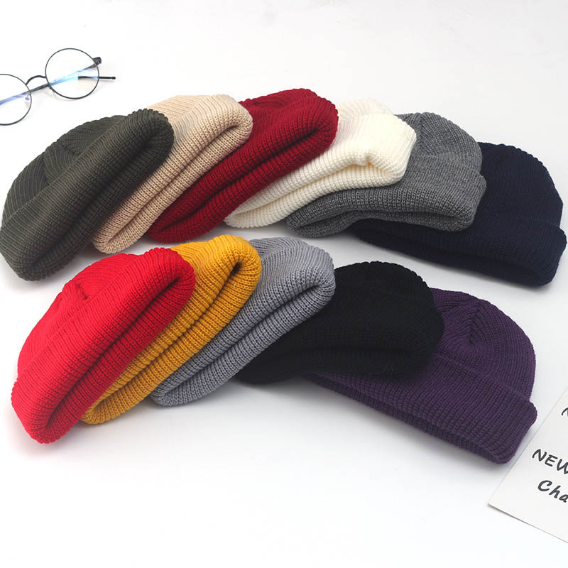 Stylish Beanie  Woollen Yarn Dome Shape Unisex Style Knitted Wool Cap Landlord Hat Solid Color 1Pcs Simplicity