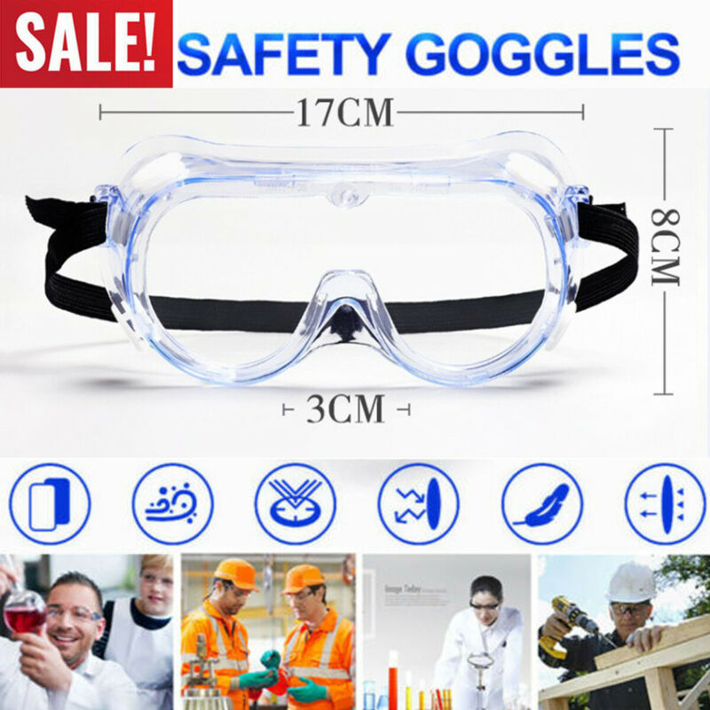 Safety Lab Glasses Protective Flu Medical Goggles Chemical Industrial Eyewear