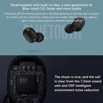 New Original Xiaomi Redmi AirDots 2 Wireless Earphone Bluetooth 5.0 Headset Mi Ture Wireless Headphones Earbuds In-Ear Earphones 4