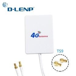 Dlenp 4G LTE Rotuter هوائي 3G 4G الهوائيات الخارجية لهواوي 3G 4G LTE راوتر مودم الجوي TS9 موصل مع 3m كابل
