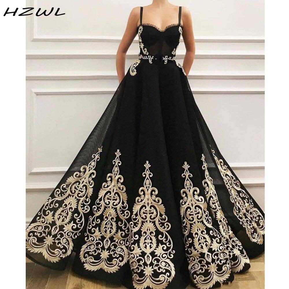Sexy Black Prom Dresses With Lace Appliques Yong Girls Party Dress Zipper Back Evening Dress Vestido De Festa