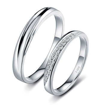 18ct Gold Diamond Couple Set Rings Wedding Bands Engagement Rings for Men Women Free DHL Shipping 2