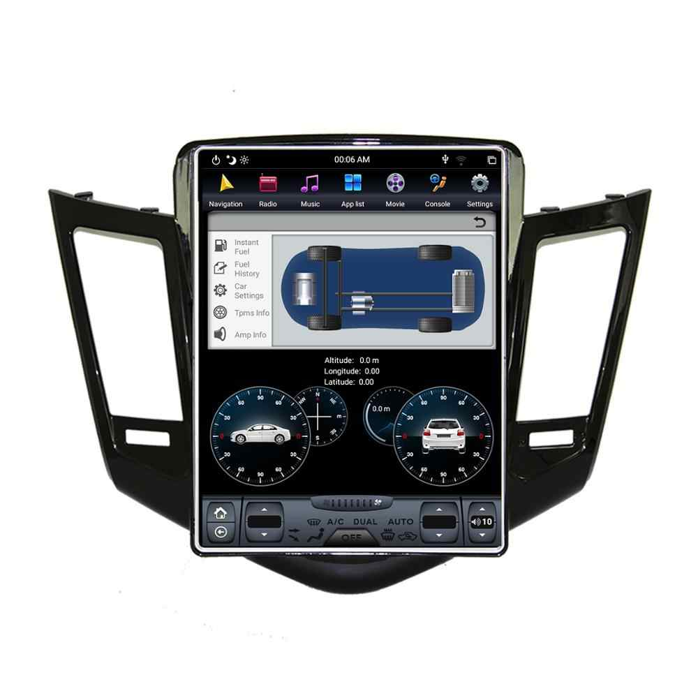 """アンドロイド 9.0 テスラスタイル 10.4 """"垂直ナビゲーションの Gps シボレークルーズ 2008-2012 ヘッドユニットマルチメディアラジオプレーヤー"""