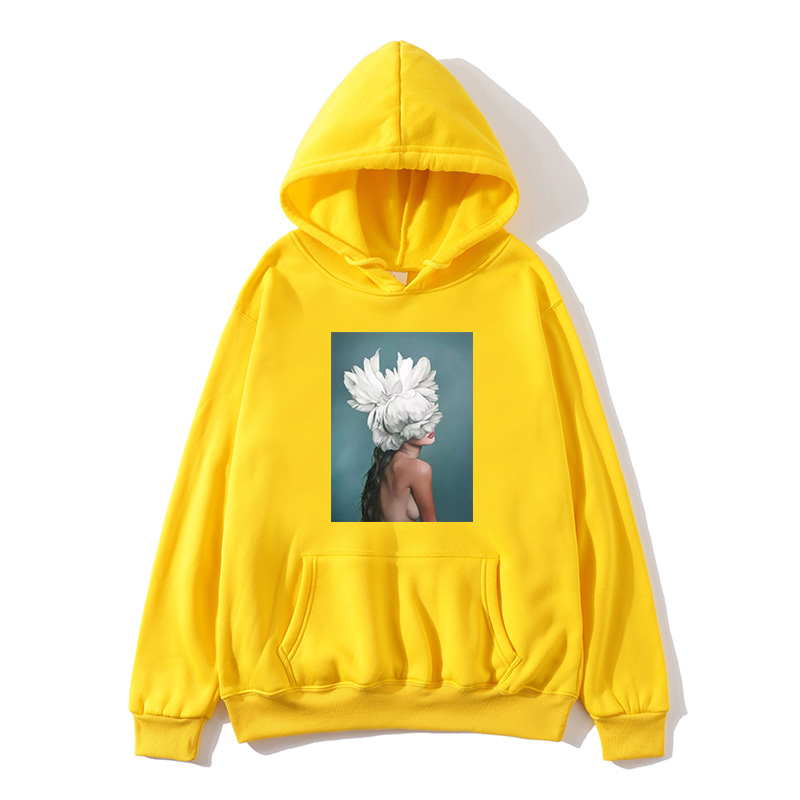 Japanese hip hop spring and autumn fleece hooded Harajuku beauty pattern printing ladies hoodie men's hoodie new 2019 hot ho