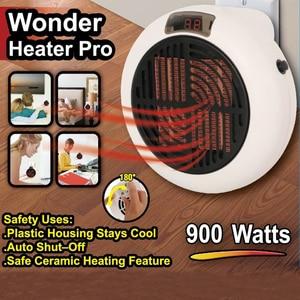 Image 2 - 900 واط صغيرة المحمولة سخان كهربائي سطح المكتب التدفئة الدافئة مروحة الهواء المنزل مكتب جدار مفيد مسخن الهواء الحمام المبرد دفئا مروحة