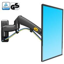 NB F300 גז אביב 360 תואר 24 35 אינץ טלוויזיה קיר הר LCD צג מחזיק אלומיניום מראה פולני זרוע טעינת 3 12kgs