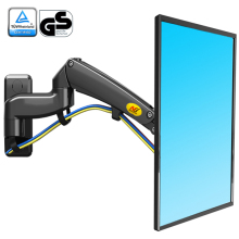 NB F300 Gas Spring 360 Degree 30 40 inch TV Wall Mount LCD Monitor Holder Aluminum Mirror Polish Arm Loading 5 10kgs