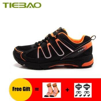 TIEBAO sapatilha ciclismo mtb для мужчин и женщин, для отдыха, велоспорта, кроссовки, самоблокирующиеся, дышащая обувь для горного велосипеда, обувь для е...