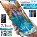 Cectdigi Note60 Pro 7,1 дюймов, 3 Гб оперативной памяти, 32 Гб встроенной памяти, новые смартфоны 32MP + 48MP Android 10 5600 мА/ч, Две сим-карты глобальная версия