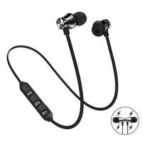 Auriculares magnéticos inalámbricos por Bluetooth, cascos deportivos estéreo impermeables, intrauditivos con micrófono