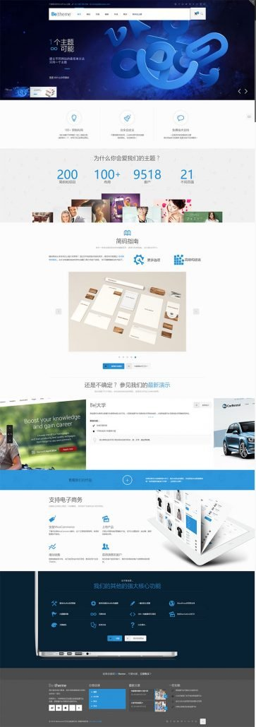 【betheme21.7.4主题】wordpress最新版电子商务博客新闻站自带500+模板