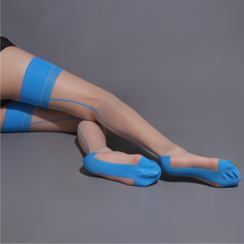 Hot Patchwork Stockings Retro Back Line Seamed Thigh High Stockings Reinforced Heel & Toe Stretchy Nylon Pantyhose Women Hosiery