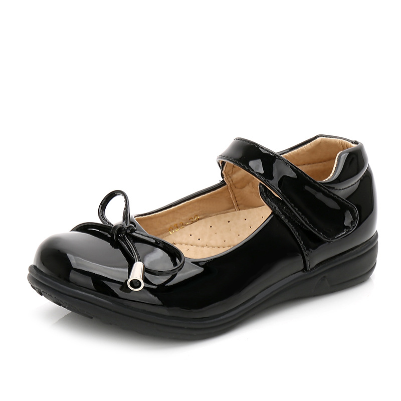 2019 New Style School Dress Shoes Children Black Genuine Leather Shoes Girls Princess Party Dance Shoes Baby Toddler Kids Shoes