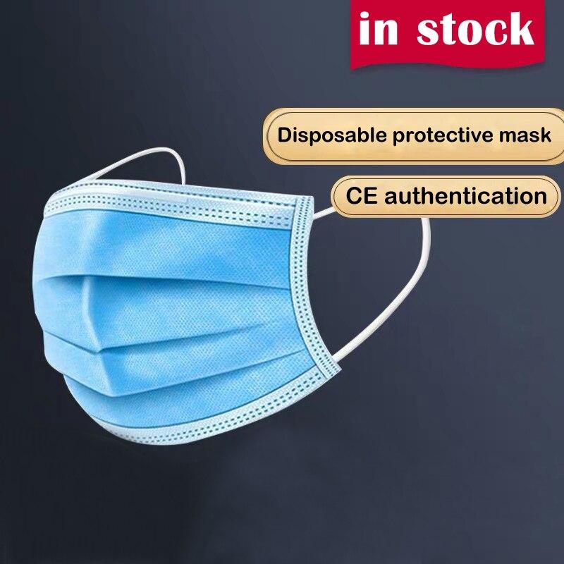 Mascarilla Facial Desechable De 10/50/100 Uds. Antipolvo De Carbón Activado Con 3 Capas De Bucle Dental
