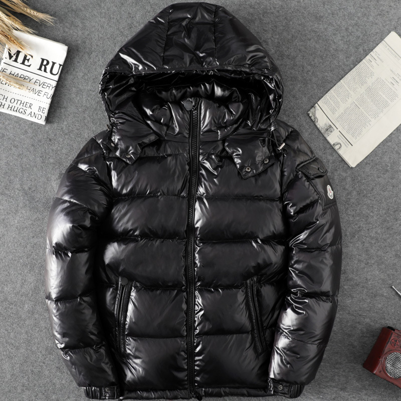 Outdoor Down Jacket Men's Duck Down Short Thick Bright Surface Fashion Europe And America 2019 Winter New Style Down Jacket Extr