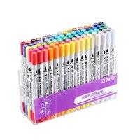 STA 12/36/48/80 Cores Definir Água-Solúvel Marcador Canetas Finas/Base de Água Ponta caneta Para Desenho Materiais de Arte Da Arte Da tinta