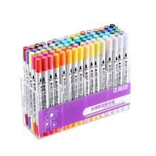 STA 12/36/48/80Colors Set Water-Soluble Marker Pens Fine/Tip Water Based Ink Art Pen For Drawing Supplies
