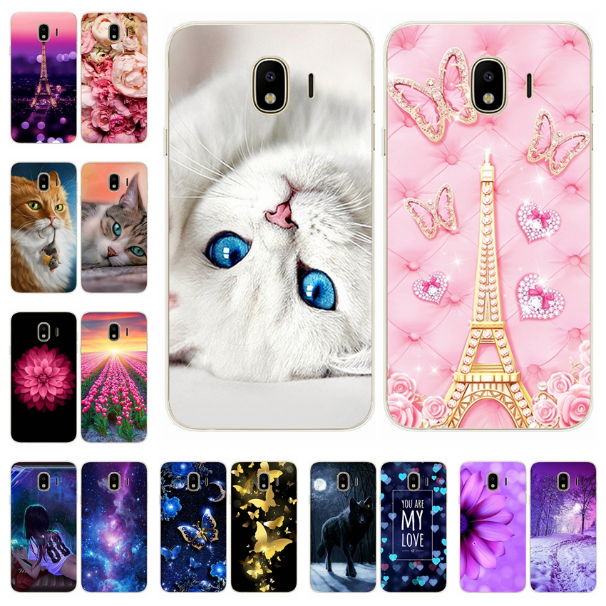 For Samsung Galaxy J4 2018 Soft Silicone Case Cover Cute J 4 Plus 400 F 415 Phone Cases Coque Capa