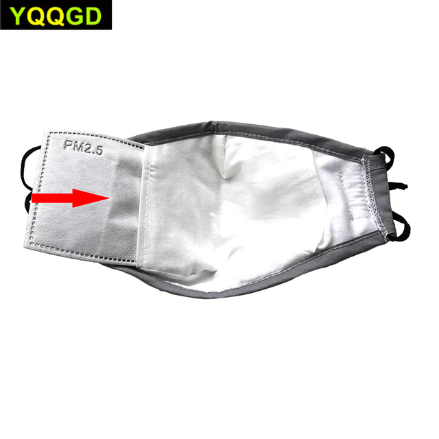 1Pcs Multi Color Cotton PM2.5 Black mouth Mask anti dust mask Activated carbon filter Windproof Mouth-muffle bacteria proof Flu 2