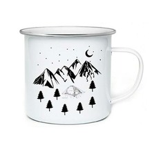 Stainless Steel Camping Coffee Mug Birthday Christmas Outdoors Metal Enamel Campfire Cup Custom Milk Enamel Mugs