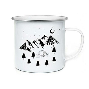 Image 1 - Stainless Steel Camping Coffee Mug Birthday Christmas Outdoors Metal Enamel Campfire Cup Custom Milk Enamel Mugs
