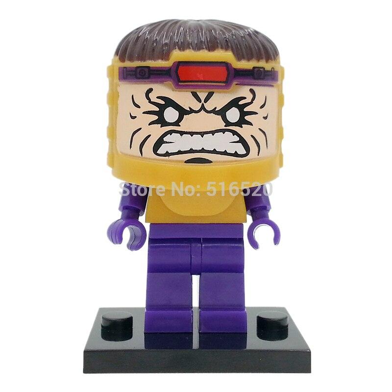 Single MODOK George Tarleton Figure Super Hero Villain Iron Man Building Blocks Models Educational Toys For Children Legoing