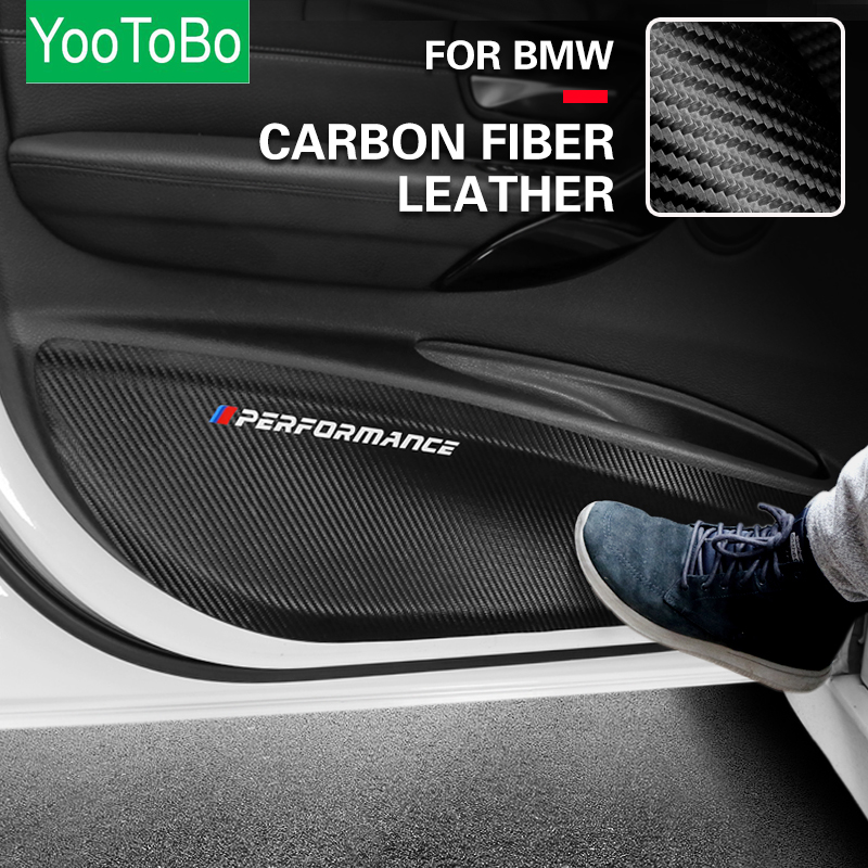 Car Door Anti-Kick Pad Leather PVC Door Protection Film <font><b>Stickers</b></font> For BMW E90 F30 <font><b>F10</b></font> F07 F20 F25 F26 F15 F16 E84 F48 X1 X3 X5 image