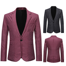 Smart Casual Men Tuxedos Classic Latest Spring  New Design Daily One Button Blazer Party Prom Club Wear Jacket Coat 1 Piece