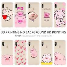 Fashion Soft TPU Case Cover For Coque Xiaomi Redmi 4X 4A 6A 7a Y3 K20 5 Plus Note 8 7 6 5 Pro funny cute lovely pig(China)