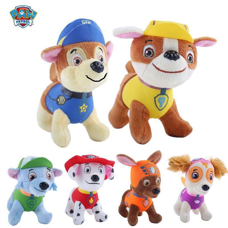 Paw Patrol dog plush canine patrol plane doll anime children's toys moving doll plush doll model plush toy gift