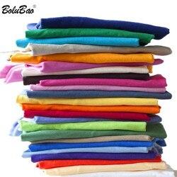 Bolubao Nieuwe Mannen Effen Kleur T-shirt Heren T-shirts Zomer Skateboard Jongen Tee Multi Kleur Casual Tops Eenvoudige Stijl