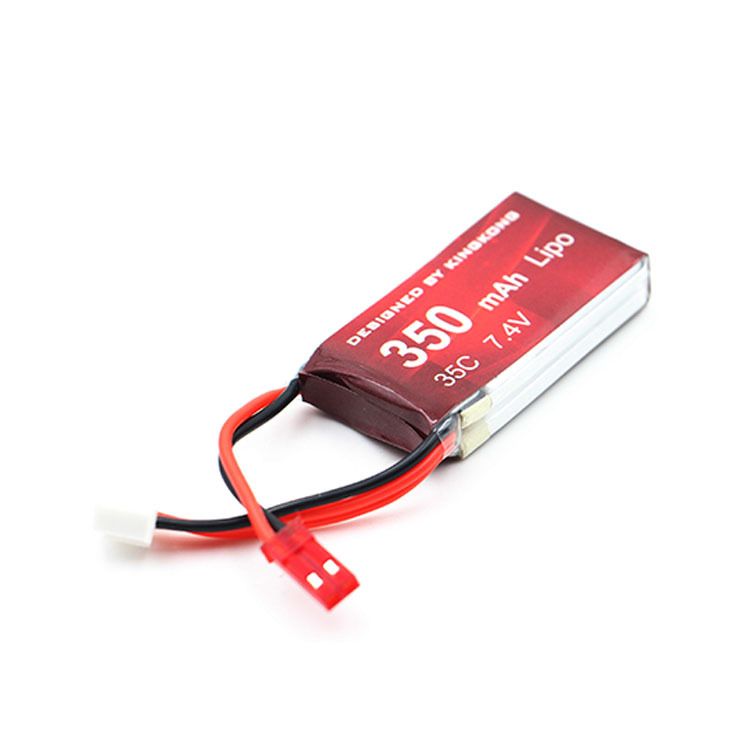 3PCS 7.4V <font><b>2S</b></font> <font><b>350MAH</b></font> 35C LIPO Battery For F3P fixed-wing RC airplane GT90 GT110 FPV racing Drone image