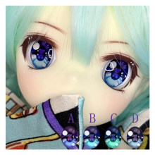 BJD eyes with little bears print doll pressure eyes 10-12-24mm doll eyes for 1/12 1/8 1/6 1/4 1/3 BJD SD doll accessories