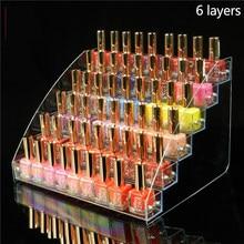 Présentoir de vernis à ongles transparent, 2/3/4/5/6/7 couches, affichage de vernis à ongles, support étagères d'huile essentielle, rangement organisateur de bouteilles