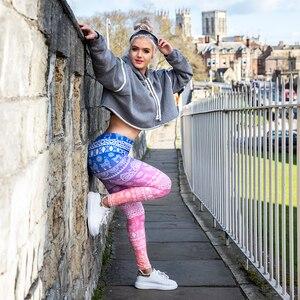 Image 4 - Hot Sales Women Legging Gradient Printing Leggins Slim High Elasticity Legins Fitness Leggings Female Pants
