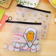 TOPSTHINK Stationery pencil case office&school supplier light clear PVC cute cartoon girls 1pc iridescence clear pencil case