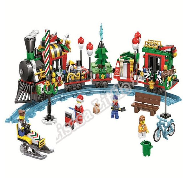 2019 New Christmas Sets Village Train Hot Air Balloon Compatible With Legoinglys Model Building Blocks Bricks Toys Gift No Box 2
