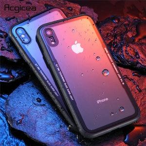 Image 1 - 아이폰 7 케이스 강화 유리 휴대 전화 케이스 아이폰 8 7 플러스 shockproof 전체 커버 아이폰 x 10 funda 액세서리